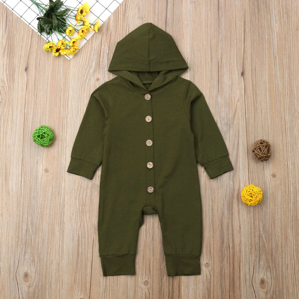 2019 Children Spring Autumn Clothing Baby Kids Boys Girls Infant Hooded Solid Romper Jumpsuit Long Sleeve 2019 Children Spring Autumn Clothing Baby Kids Boys Girls Infant Hooded Solid Romper Jumpsuit Long Sleeve Clothes Outfits 0-24M