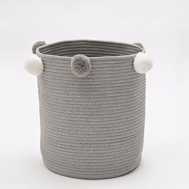 Cotton Woven Clothes Storage Basket Kid Toys Stockpile Basket For Large Foldable Dirty Clothes Toys And Art Organizer Holder