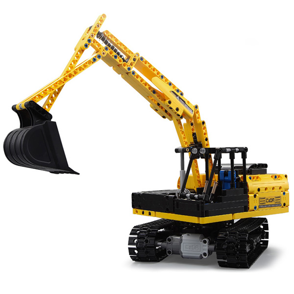 CaDA C51057W ciężarówka klocki elektryczny inteligentny pilot zdalnego sterowania montaż koparka gąsienicowa zabawkowa ciężarówka dla dzieci w Klocki od Zabawki i hobby na  Grupa 1