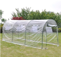 VidaXL Transparent Greenhouses Warm Garden Tier Household Plant Greenhouse Cover Outdoor Garden Plant Grow House Protect Plants