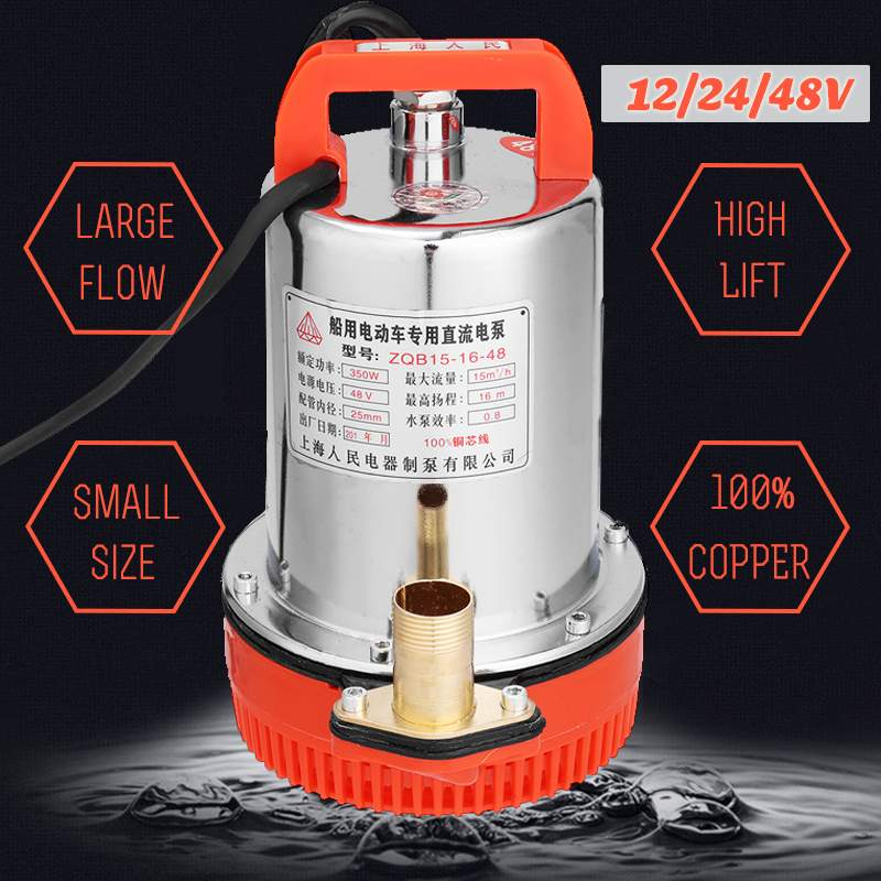 DC <font><b>12V</b></font> 24V 48V 150W 220W 350W Solar <font><b>Submersible</b></font> <font><b>Water</b></font> <font><b>Pump</b></font> Electric High Lift DC Stainless Steel Solar Power Fish Tank Aquarium image