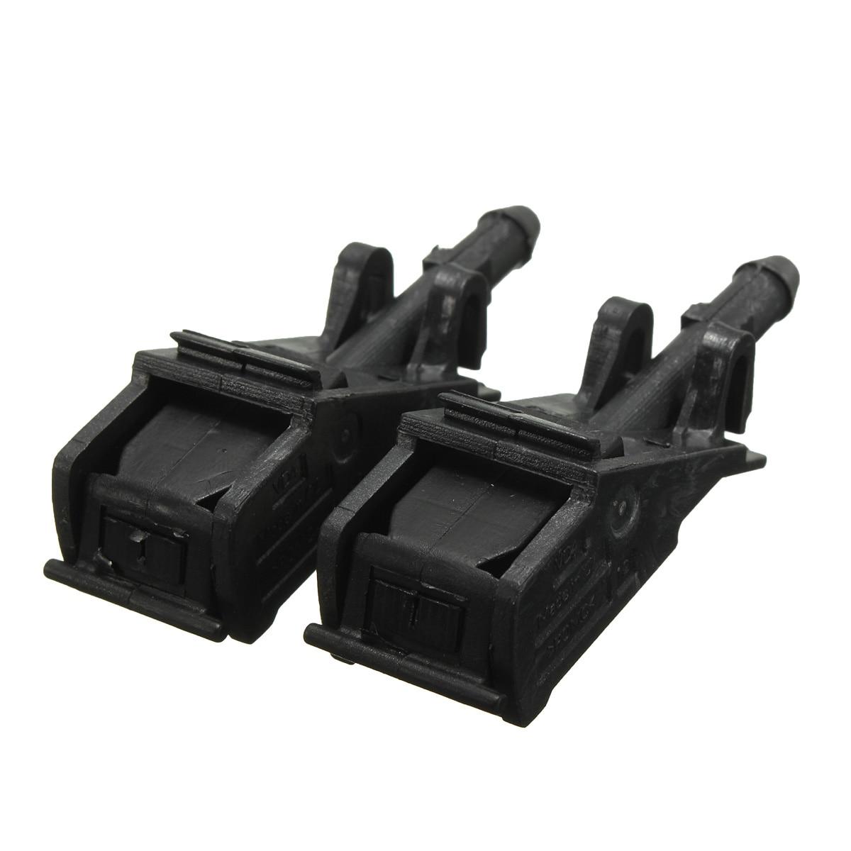 Black Windshield Water Sprayer Jet- Spray Washer Nozzle For VW Beetle For Jetta Golf GTI Passat Touareg Rabbit 6E0955985B