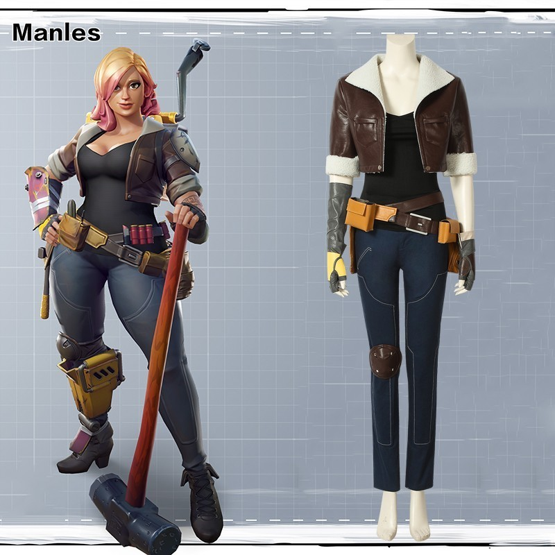Game Cosplay Battle Royale Penny Costume Carnival Adult Halloween Custom Made Superhero Leather Women Jacket T-shirt Clothes