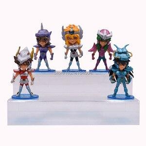 Image 3 - 5 pcs/set Anime Saint Seiya Knights of the Zodiac Action Figure PVC Figurine Collectible Model Christmas Gift Toy