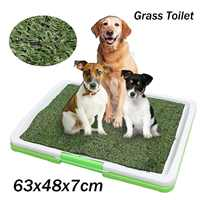 3 Layers Large Dog Pet Potty Indoor Training Pee Pad Mat Puppy Tray Grass Toilet Loo Urine Tray For Puppy Pet Supplies