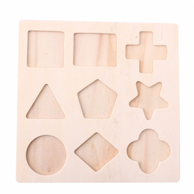 Wooden assorted shape puzzle