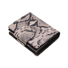 Купить с кэшбэком Luxury Brand Women Wallets Genuine Leather Wallet Snake Split Leather Wallet Coin Purse Ladies Leather Card Holder Women Cartera