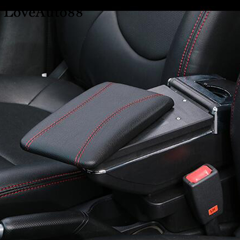 car styling For Ford Fiesta 3 MK7 2009 2017 armrest box central Store content box cup holder ashtray interior accessories Armrests     - title=