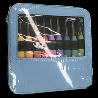 9pcs LED Light Up Crochet Hook Knitting Needles Craft Set Kit Weave Sewing Tool