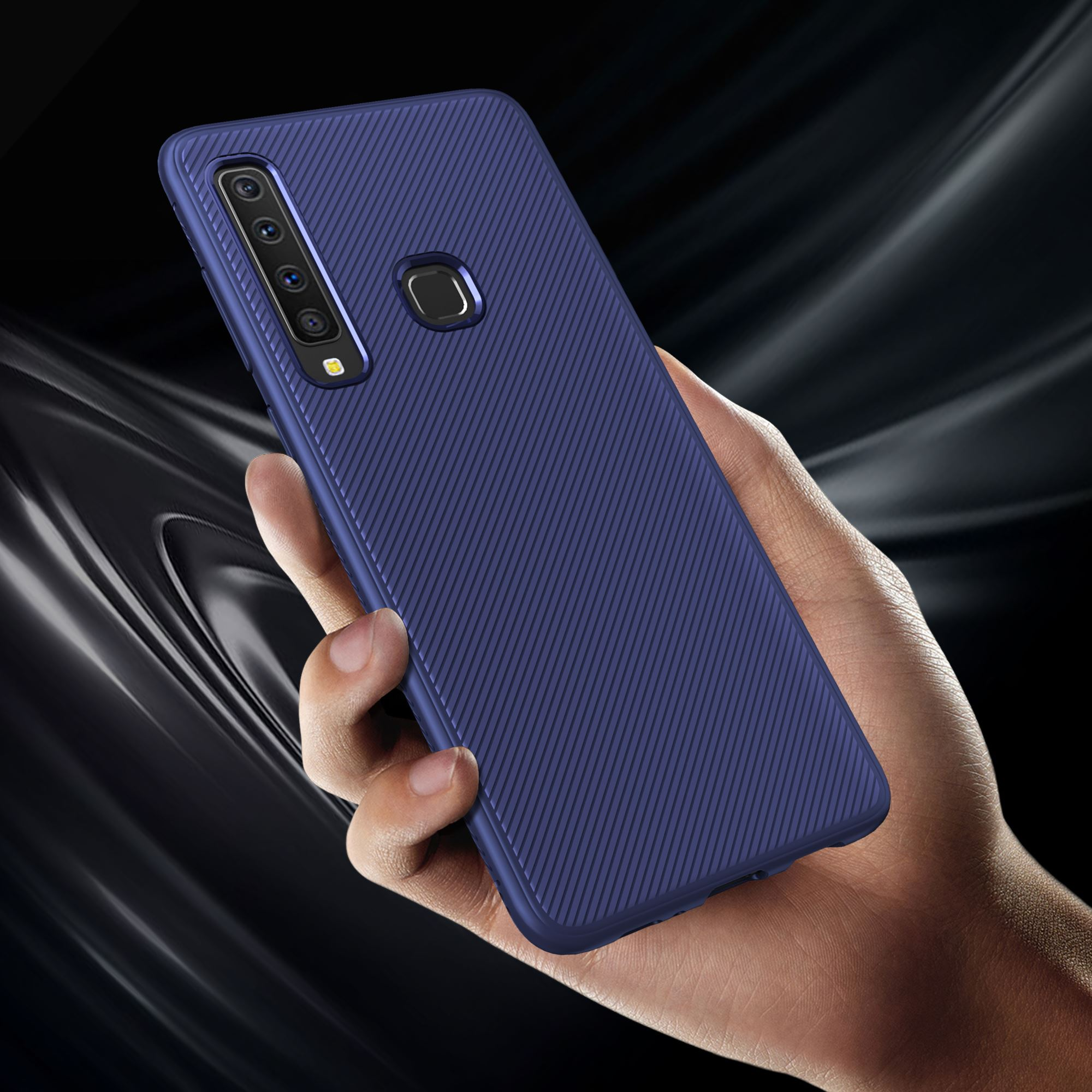 For Samsung Galaxy A9 2018 Case Silicone Carbon Fiber Anti-Slip TPU Soft Funda For Samsung A9 2018 A7 2018 S10 Case Slim Texture