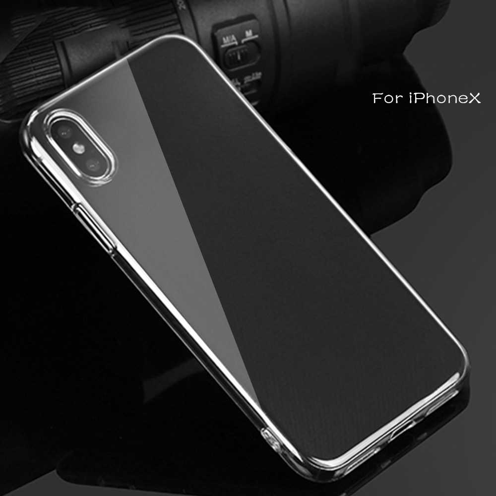 Ultra thin Clear Transparante TPU Siliconen Case Voor iPhone XS MAX XR 6 7 6S Plus Bescherm Rubber Telefoon case Voor iPhone 8 7 Plus