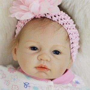 Image 3 - Bebe Reborn 22 inch Soft Silicone Vinyl Dolls 55cm Reborn Baby Doll Newborn Lifelike Bebe Reborn Dolls Birthday Gift