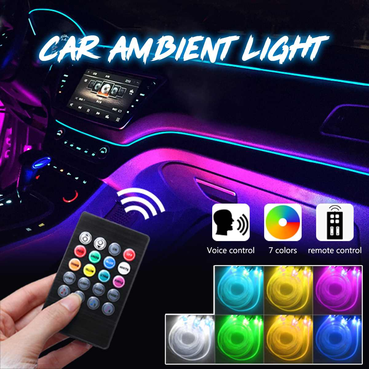 HOT SALE] RGB LED Strips Ambient Light APP Bluetooth Control