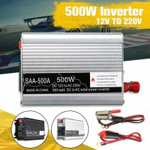 New Portable Inverter 12V 220V 500W Auto Modified Sine Wave Voltage Transformer Power Inverter Converter Car Charge USB(China)