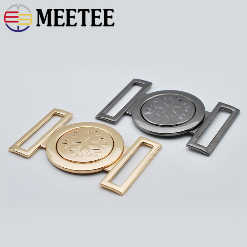 Arts,crafts & Sewing 4pcs Metal Ring Buckle Womens Coat Sweater Decorative Handbag Leather Luggage Accessories Belt Buckle Round Sewing Accessories Fast Color