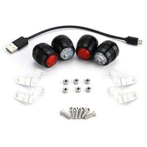 Image 5 - Koowheel skate luzes de led noturnas, 4 peças, luz de aviso de segurança para 4 rodas skate longboard