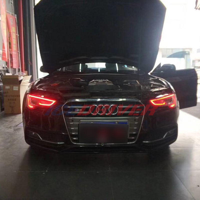 Icedriver For AUDI A5 S5 DRL RGB Multicolor LED Boards 2012-2016 Daytime Running Lights Red Blue Demon Eye Lighting Bulbs