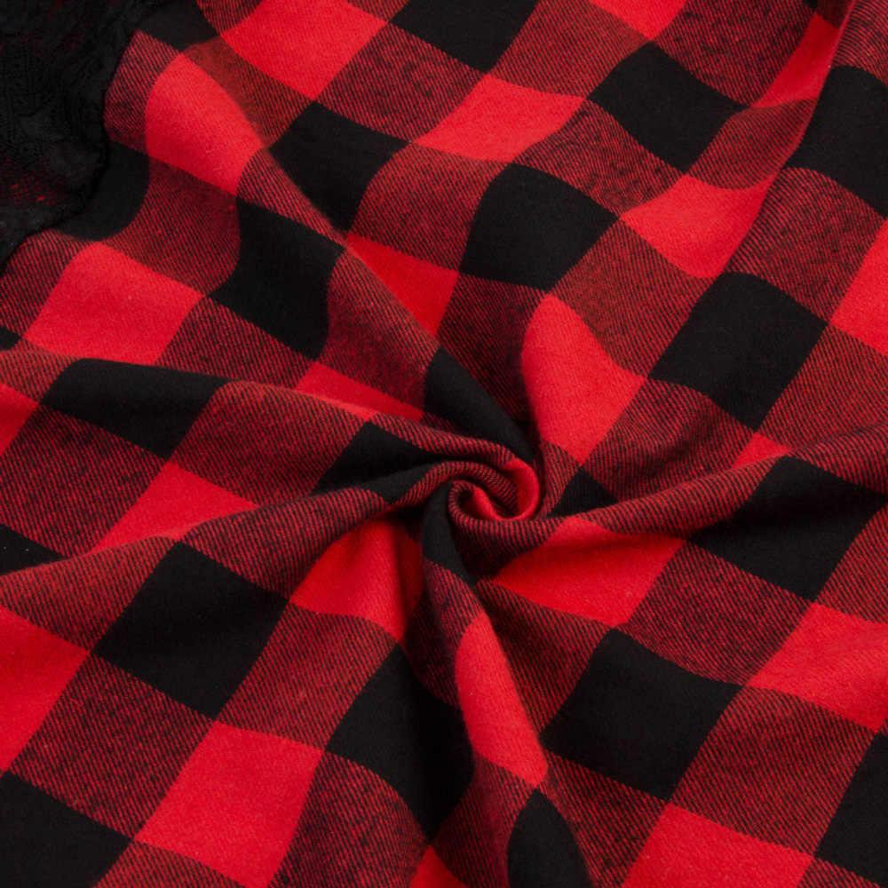 Joineles сексуальные кружевные вечерние платья 1960s в красную клетку Для женщин Винтаж платье весенняя одежда с длинным рукавом плюс Размеры 5XL юбка с высокой талией вечерние платья