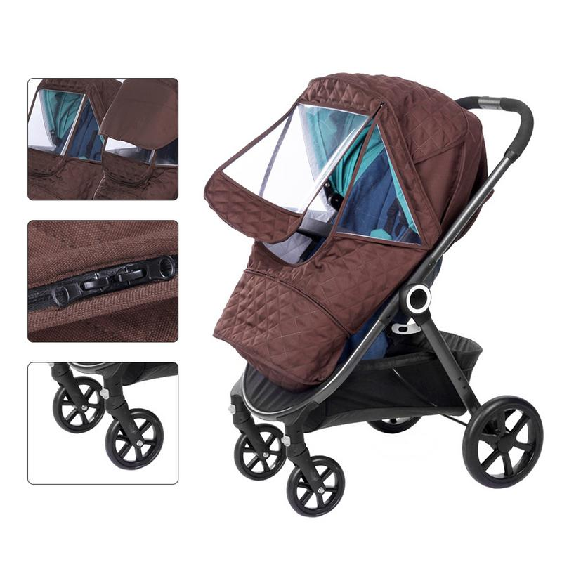 Baby Stroller Thicken Warm Cover Universal Size Rainproof Windproof Snow-Proof Dust- Proof Sunshade Waterproof Cover Accessories