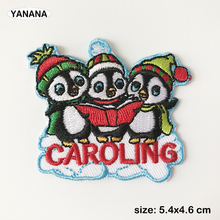 penguin singing caroling Clothing Decoration Patch Iron on Clothing цена и фото