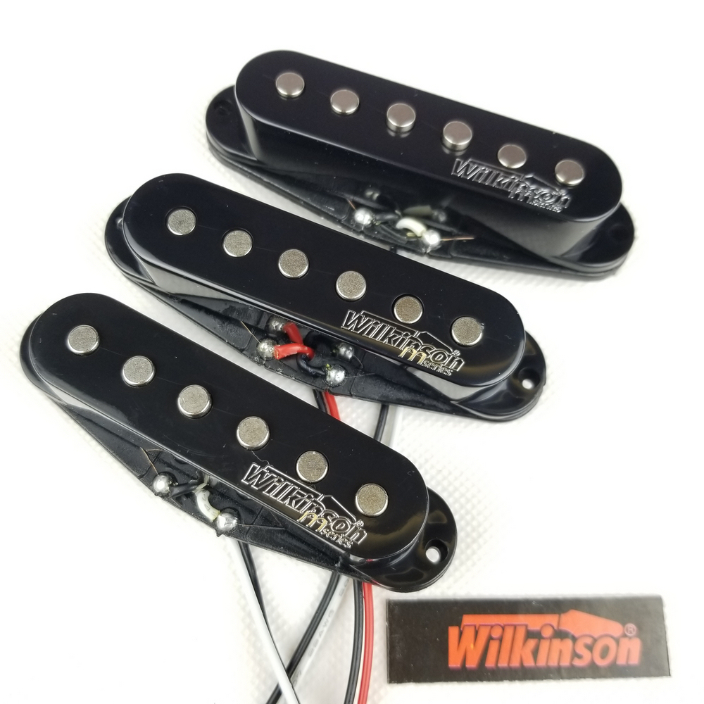 *NEW Wilkinson WOVS LOADED PICKGUARD for Fender Strat Black Pearloid 3Ply 8 Hole