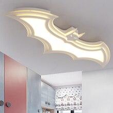 Omicron Modern Iron Led Creative Batman Chandeliers Childrens Lamp For Living Room Lustre Lighting