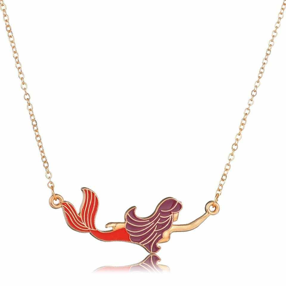 Classic Child Memories Mermaid  Pendants&Necklaces For Women Handmade High Quality Necklaces Great Birthday Necklaces Jewelry