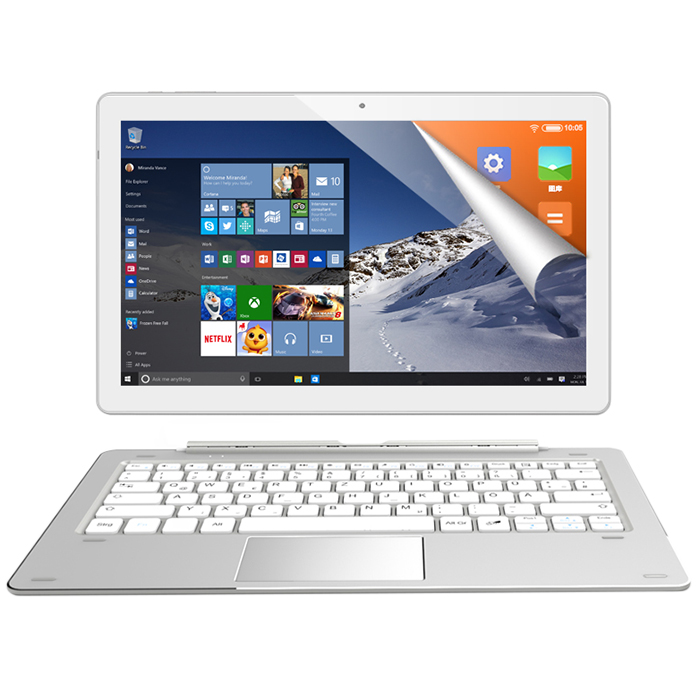 NEW ALLDOCUBE IWork 10 Pro 2 In 1 Tablet PC With Keyboard 10.1'' Windows 10 Android 5.1 Intel Atom X5-Z8350 4GB+64GB Tablets