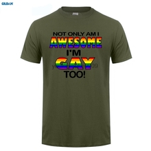 GILDAN  MENS FUNNY COOL NOVELTY JOKE GAY PRIDE SLOGAN FLAG T-SHIRTS LGBT GIFTS Men T Shirt Cheap Sale 100 % Cotton