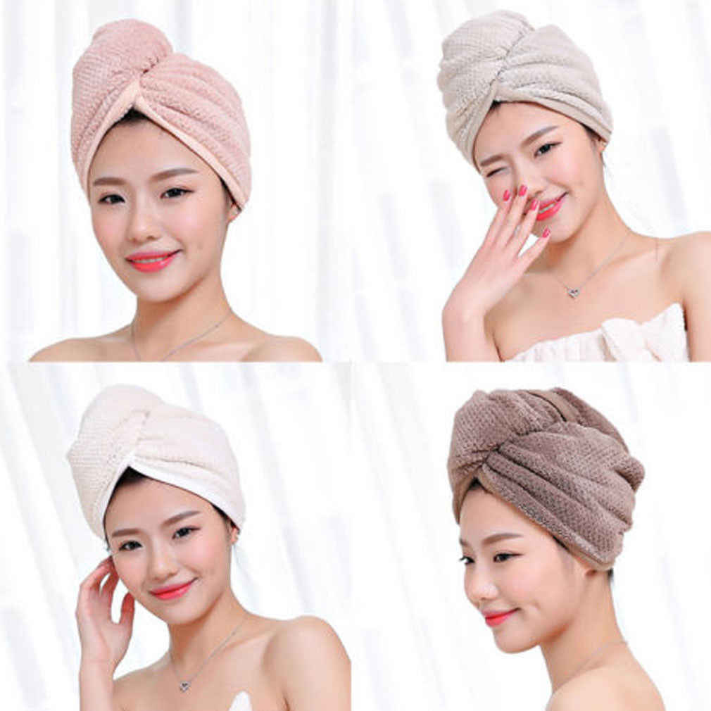 Women Hair Twist Towel Dry Shower Microfiber Turban Hair Wrap Adults Accessories