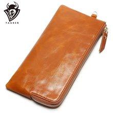 Женская сумка для телефона яркий масляный кожаный кошелек Длинный