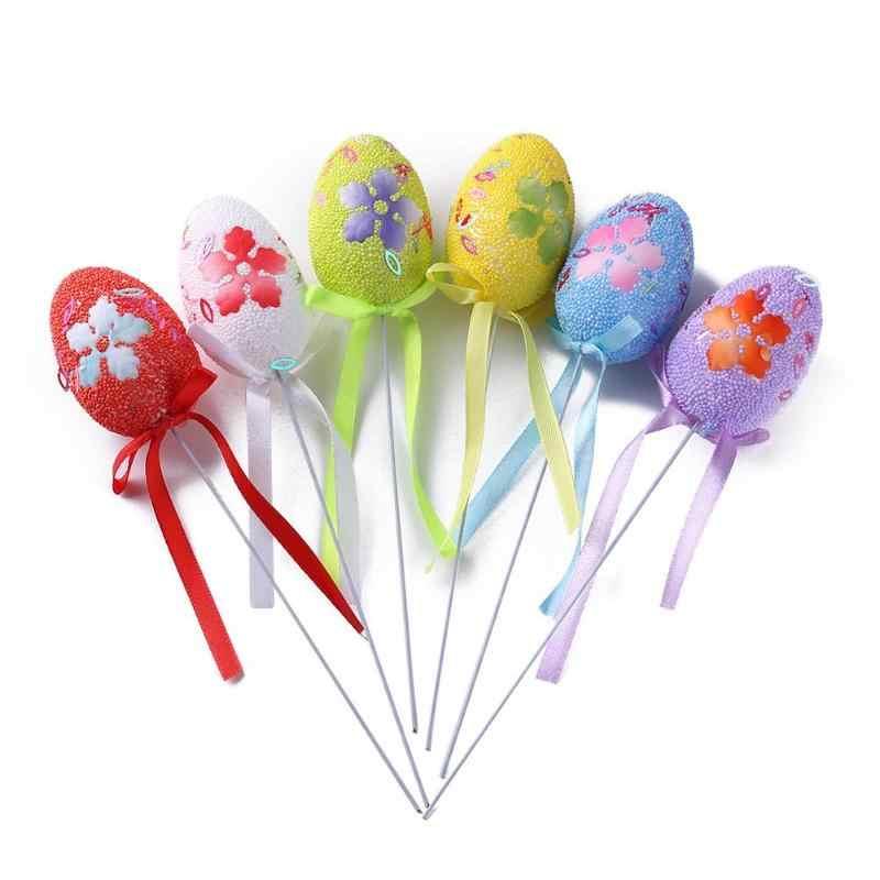 6 шт./пакет пасхальные яйца DIY красочные яйца детский сад ручной работы украшения пасхальные яйца DIY Детский сад ручной работы Подарочная бутафория