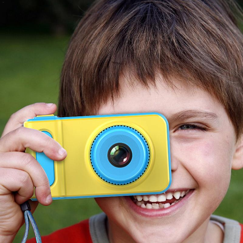 Children's Digital Camera Mini Camera Small SLR Sports Camera Toy Cartoon Game Photo Birthday Gift Pink Blue