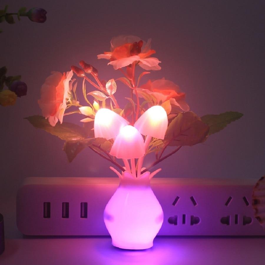 Socket Light Flower And Clove Energy Saving Lamp Colorful Night Light