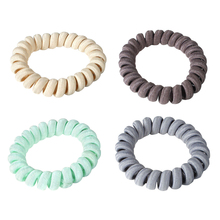 Rings Rope Telephone Wire Hair Accessories 1 pc Elasticity Coil Hairbands Women Spiral Ties Girls