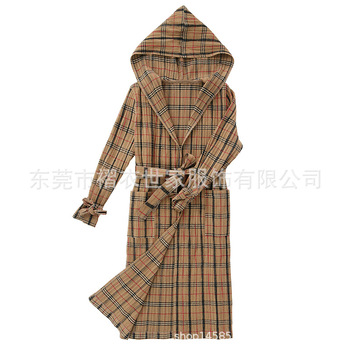Folded New Fashion Self-cultivation Classic Chequered trench MIYAKE pleated trench free shipping