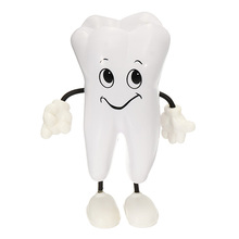 1pc Tooth-figure Squeeze Toy Soft PU Foam Tooth Doll Model Shape Dental Clinic Dentistry Promotional Item Dentist Simulation Toy dental teeth model dentistry education model pathological tooth model tooth nerve dissection