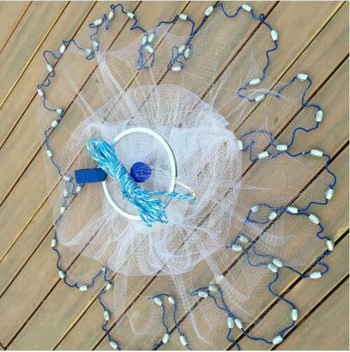 Image 3 - Волшебная рыболовная сеть, литые сети 2,4 м, высокопрочная нейлоновая Моноволокно, маленькая сетка, литая ручная рыболовная сеть, рыболовная сеть для ловли рыбы-in Рыболовная сеть from Спорт и развлечения