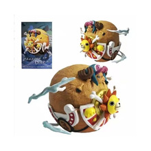 цена на 5.5cm One Piece Thousand Sunny Pirate Ship boat chopper in deep sea action Figure PVC Toys Cartoon Collectible Model Dolls