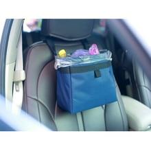 Mini Car Storage Bag Car Vehicle Trash Rubbish Bin Garbage Can Styling Dust Case Seat Back Bag For Nissan Ashtray Barrel Yh-7