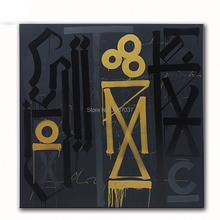 Large size Hand Painted Oil Painting Wall painting RETNA Untitled Art Picture For Living Room no frame