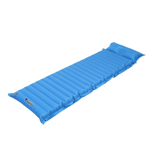 Bluefield outdoor Inflating Air Pad Sleeping Mat Hiking Mattress with Pillow For Camping Hiking Backpacking Travelling.sky blu