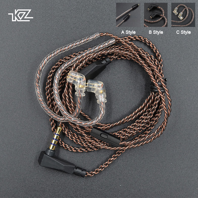 KZ Cable Connector Replaceble-Wire Copper Oxygen-Free 2pin 0.75mm Original with for Zsn/zsn-Pro