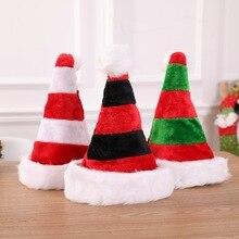 81e710acbd762 Christmas Fashion Cute Cap Thick Ultra Soft Plush Cute Santa Claus Holiday  3 Stylish Striped Fancy