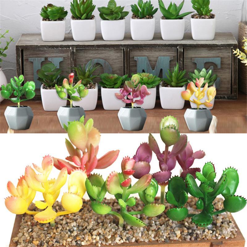 39 Styles Artificial succulents Plants Grass Desert Artificial Plant Landscape Fake Flower Arrangement Garden Office Home Decor