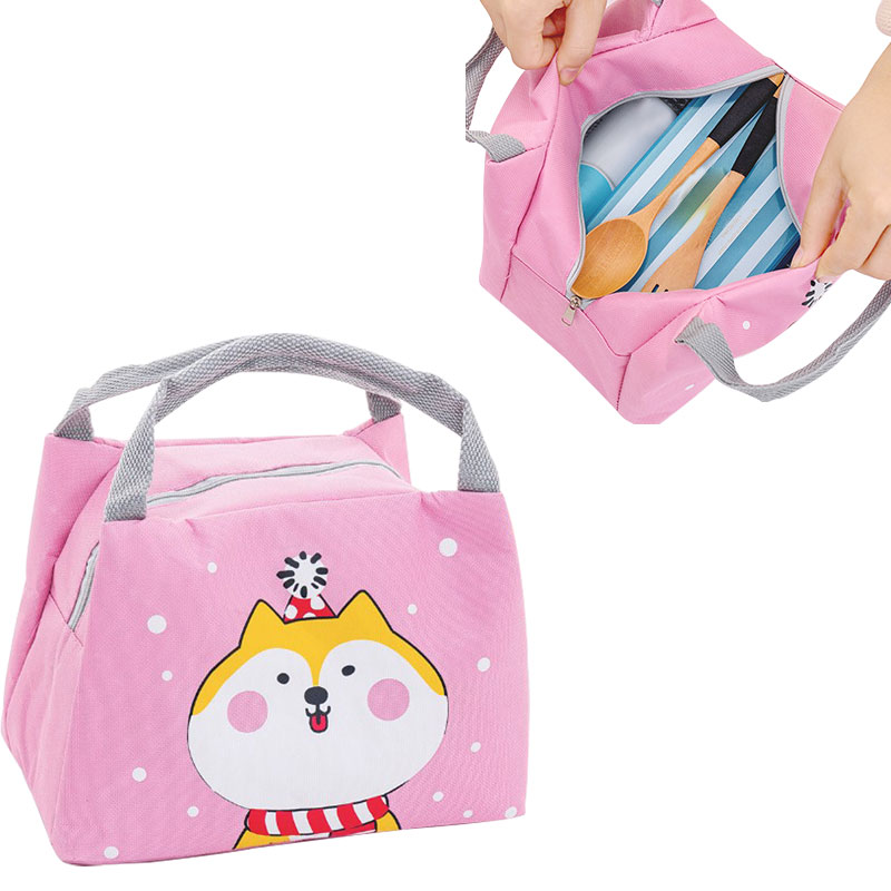 New 2019 Cartoon Cute Lunch Bag For Women Girl Kids Children Thermal Insulated Lunch Box Tote Food Picnic Bags Milk Bottle Pouch