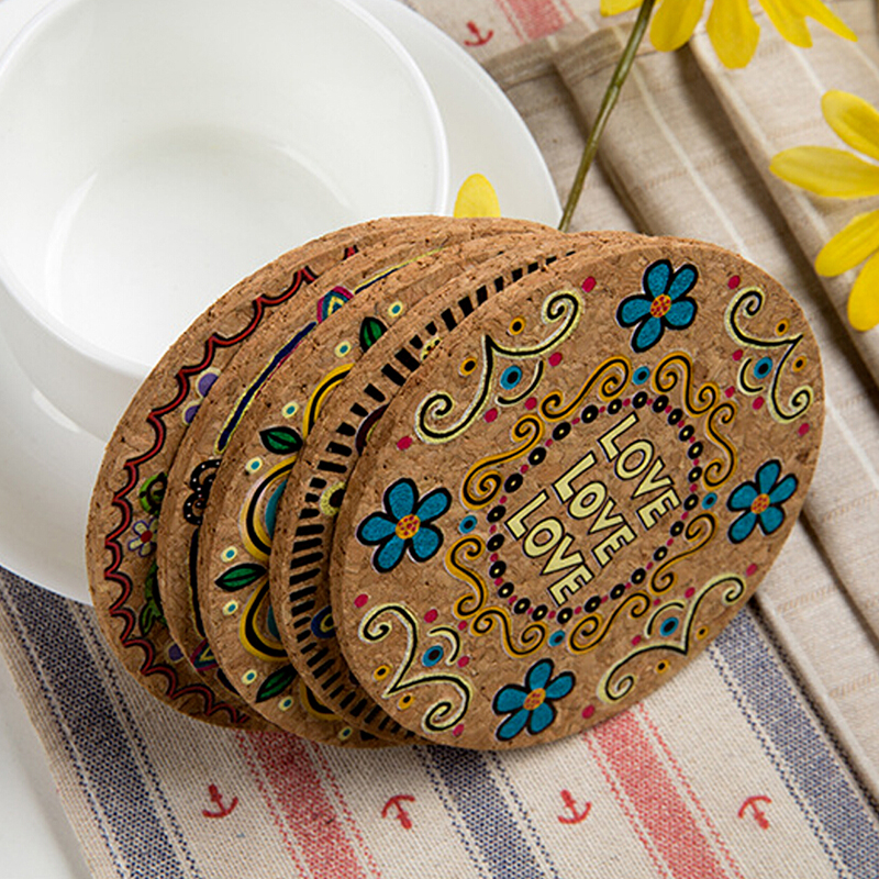Super Us 0 34 49 Off 4Pcs Boho Style Cork Wood Cup Mat Drink Coaster Tea Coffee Table Decor Bottle Pads Tableware Kitchen Home Decoration Accessories In Download Free Architecture Designs Lukepmadebymaigaardcom