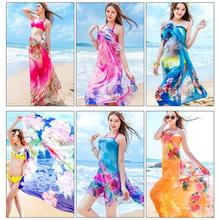 Chiffon Yarn Dual-Use Large Travel Beach Towel Sun Protection Shawl Ighter And More Breathable 3D Printing Design