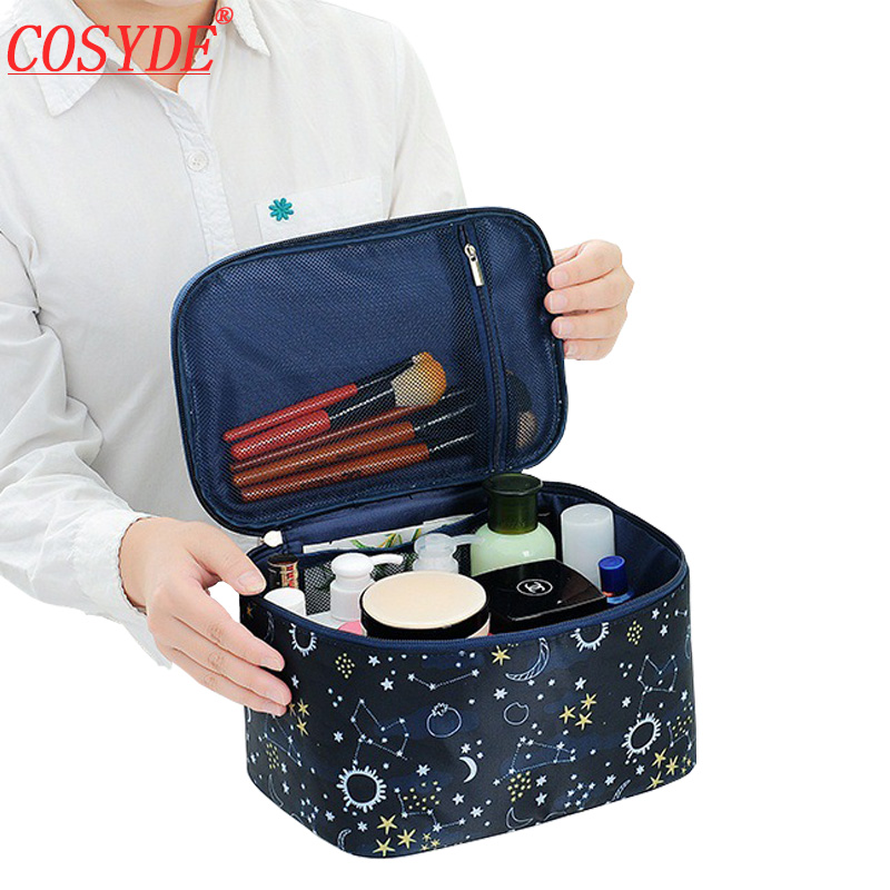 Travel Makeup Bag Organizer Polyester Women Cosmetic Bag Waterproof Portable Toiletry Bag Ladies For Neceser Mujer Storage Kits