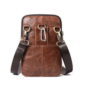 Image 2 - Retro Erkek askılı çanta Hakiki Deri Küçük klasik postacı çantaları Erkekler Için Deri Çanta Erkek omuzdan askili çanta Lüks Tasarımcı